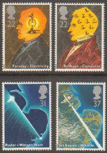 SG1546-1549 1991 Scientific Achievements Stamp Set